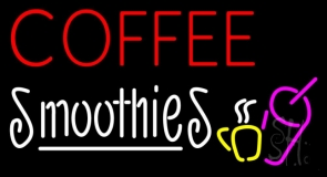 Red Coffee Smoothies LED Neon Sign