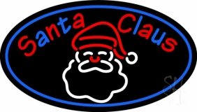 Santa Neon Sign