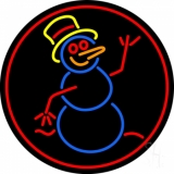 Snowman LED Neon Sign