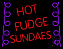 Red Hot Fudge Sundaes LED Neon Sign