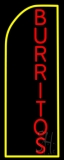 Vertical Red Burritos LED Neon Sign