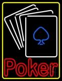 White Cards Poker LED Neon Sign