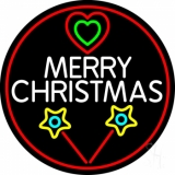 White Merry Christmas With Candy Stick LED Neon Sign