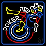 White Poker With Girls LED Neon Sign