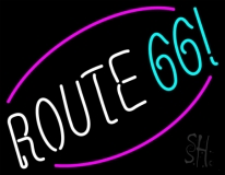 White Route 66 Block Neon Sign