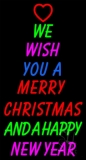 Wishing Merry Christmas Happy New Year LED Neon Sign