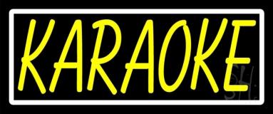 Yellow Karaoke Border Neon Sign