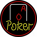 Yellow Poker With Cards LED Neon Sign