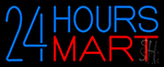 24 Hours Mini Mart LED Neon Sign
