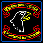 Airborne Division Screaming Eagle With Blue Border LED Neon Sign
