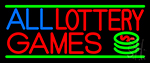 All Lottery Games LED Neon Sign