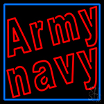 Army Navy With Blue Border LED Neon Sign