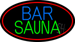 Bar And Sauna With Red Round LED Neon Sign