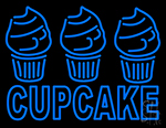 Blue Cupcake With Cupcake LED Neon Sign