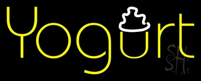 Yellow Yogurt LED Neon Sign