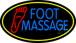 Blue Foot Massage With Yellow Oval LED Neon Sign