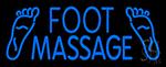 Blue Foot Massage LED Neon Sign