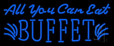 Blue All You Can Eat LED Neon Sign