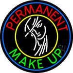 Blue Permanent Makeup Girl LED Neon Sign
