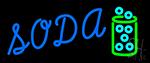 Blue Soda Neon Sign