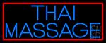 Blue Thai Massage LED Neon Sign