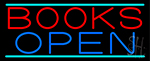 Books Open LED Neon Sign