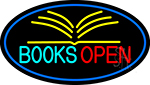 Books Red Open LED Neon Sign