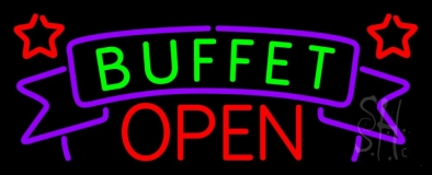Buffet Open LED Neon Sign