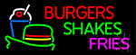 Burgers Shakes Fries LED Neon Sign