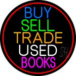 Buy Sell Trade Used Books LED Neon Sign
