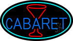 Cabaret With Wine Glass LED Neon Sign