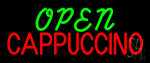 Cappuccino Open LED Neon Sign