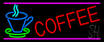 Coffee In Between Glass LED Neon Sign