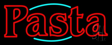Double Stroke Pasta LED Neon Sign