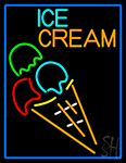 Cone Ice Cream LED Neon Sign