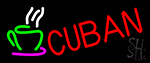 Cuban With Coffee Cup 2 LED Neon Sign