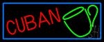 Cuban With Coffee Cup LED Neon Sign