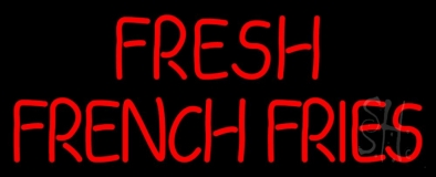 Fresh French Fries LED Neon Sign
