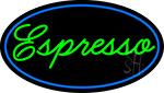 Cursive Green Espresso LED Neon Sign