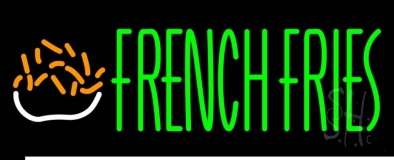 Green French Fries LED Neon Sign