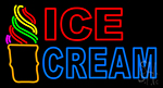 Double Stroke Ice Cream Cone LED Neon Sign