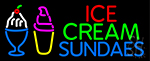 Double Stroke Ice Cream Sundaes LED Neon Sign