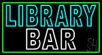 Double Stroke Library Bar LED Neon Sign