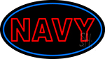 Double Stroke Navy Neon Sign