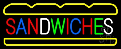 Multi Colored Sandwiches LED Neon Sign