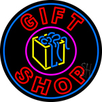 Double Stroke Gift Shop With Gifts Logo LED Neon Sign