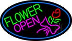 Flowers Open Logo LED Neon Sign