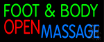 Foot And Body Massage Open LED Neon Sign