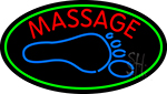 Foot With Double Stroke Massage LED Neon Sign