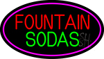 Fountain Sodas With Glass LED Neon Sign